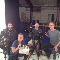 Group shot of the camera team