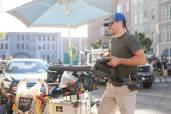 Moving camera on the backlot