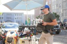 Moving camera on the backlot