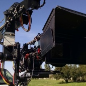 Red Epic on the jib while we were shooting in a park