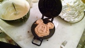 Art Dept. brought Micky Mouse Waffle Iron to set...the crew was never happier