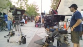 Staging between scenes, as always camera is ready with plenty of time to spare :-)