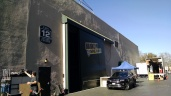 Outside the soundstage for the 9-9
