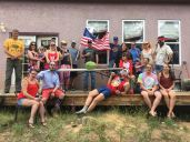 Celebrating the 4th of July in style with the crew.