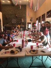 4th of July BBQ with the film crew.