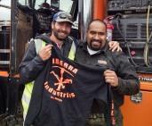 Moment of honor here. Receiving an Ibarra Industries hoodie from the man himself, Juan Ibarra.