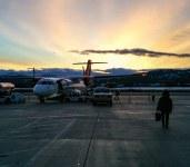 Beautiful sun rise before final flight to set