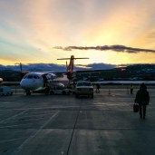 Beautiful sun rise before final flight to set