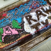 RAW TV cake. We had the best cooks on this show. It was amazing!