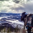 My camera looking over a frozen Yukon landscape.