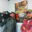 Carter Smith and I on the set of Gold Rush.